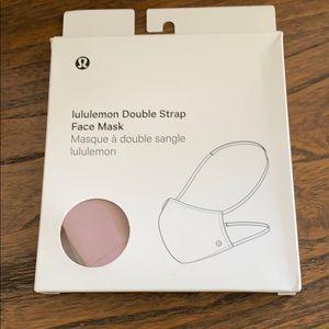NWT Lululemon Double Strap Face Mask Vintage Mauve